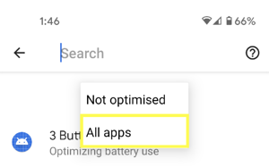 Android 2.1.0 - battery optimization 1