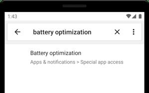 Android 2.1.0 - settings, battery optimization