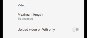 Android 2.1.0 - video settings