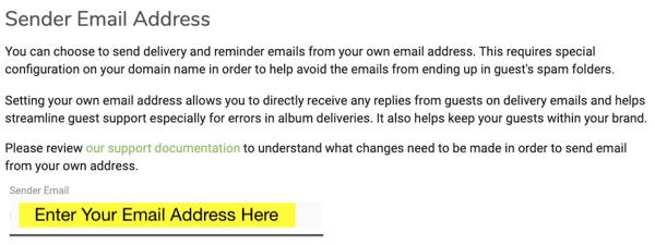 Sender email address